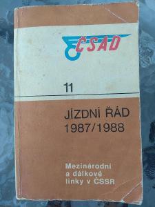 Jízdní řád ČSAD 1987, dálkové linky