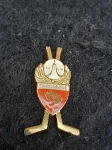 Odznak TESLA PARDUBICE  - lední hokej