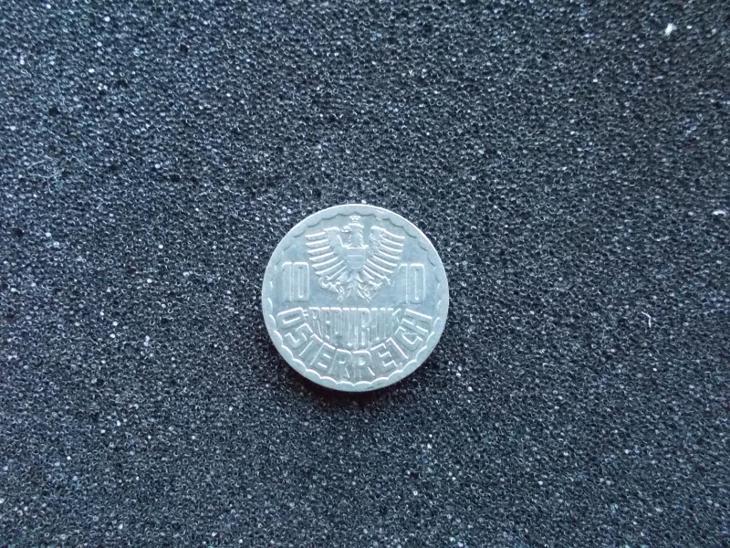 Mince Rakousko 10 groschen deset  grošů z oběhu Šilink - Numismatika