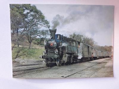 Lokomotiva 375.634 s osobním vlakem - VF