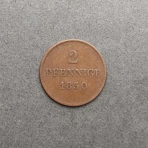2 Pfennig 1850 .. Bayern .. KM: 798 .. !!
