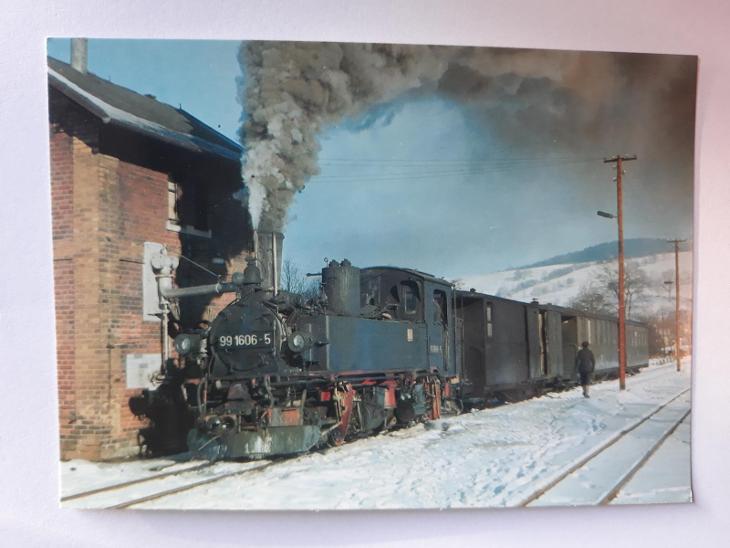 Úzkorozchodná lokomotiva 99.1606 - VF - Pohlednice