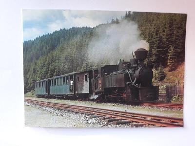 Úzkorozchodná lokomotiva 764.469 na lesní železnici - VF