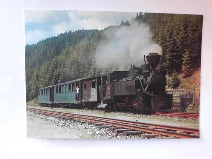 Úzkorozchodná lokomotiva 764.469 na lesní železnici - VF - Pohlednice