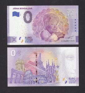 💎0 euro bankovka JIŘINA BOHDALOVÁ - pamětní narozeninová - UNC !! 💎