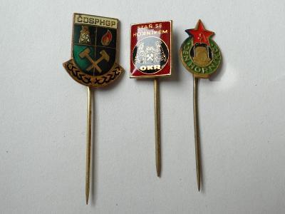 3x HORNICTVÍ - různé odznaky
