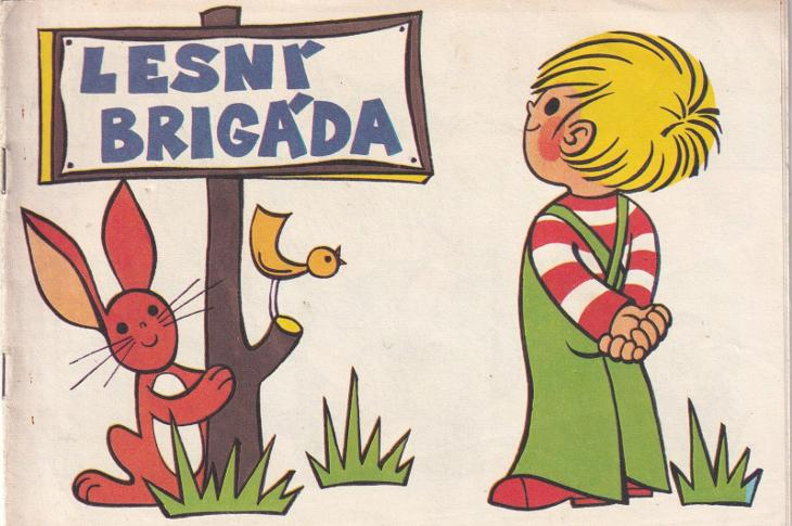 Omalovánky Lesní brigáda, tiskárny Pardubice - Antikvariát