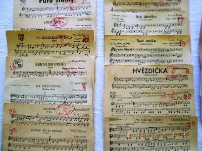 Staré noty- listy ze 30 a 40 let