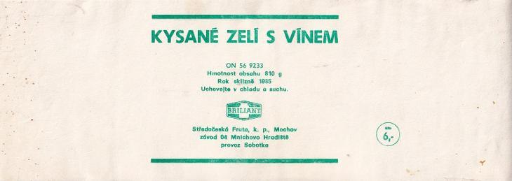 Etiketa kysané zelí, Fruta Mochov - Ostatní