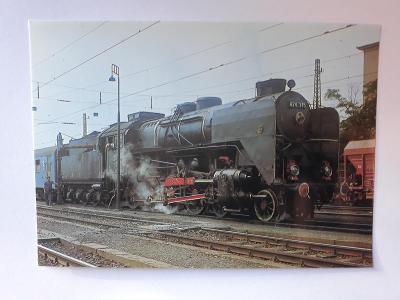 Lokomotiva 424.345 s osobním vlakem - VF