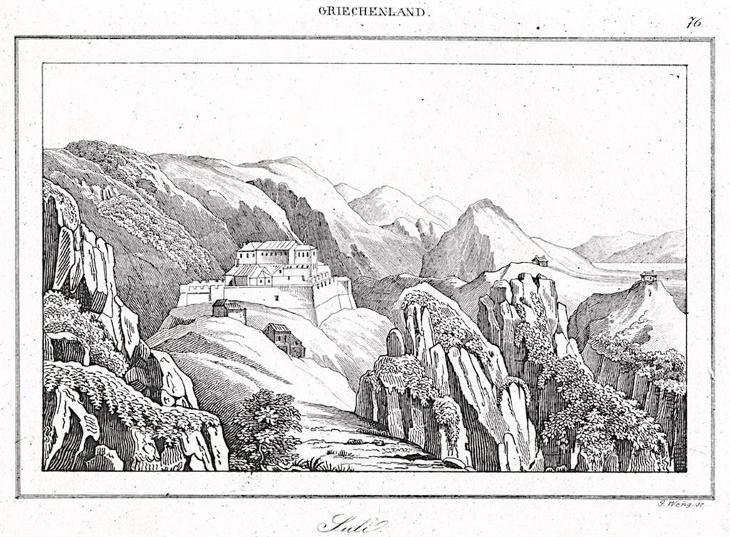 Souli Ioannina, Le Bas, oceloryt 1840 - Antikvariát