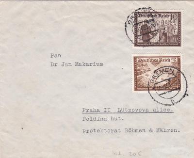 Německo, Bremen 20.10.1939 - Praha.