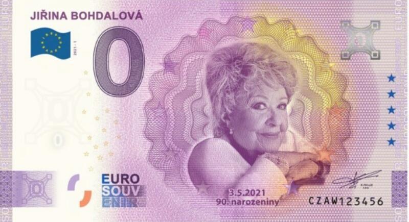 0 Euro JIŘINA BOHDALOVÁ - 90. narozeniny - Bankovky