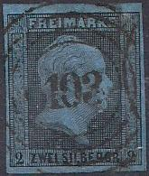 PREUSSEN (Prusko) Mi. 3, razítkovaná  - Filatelie