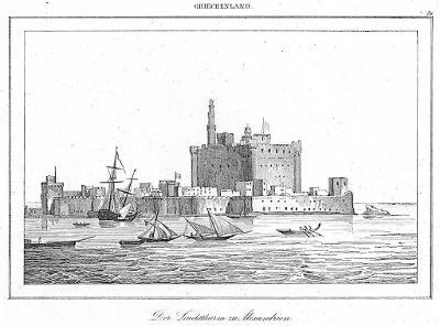Alexandrie , Le Bas, oceloryt 1840