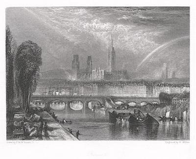 Rouen,  Miller,oceloryt, (1840)