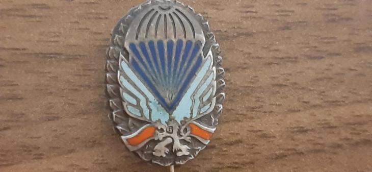 Odznak čsl. parašutisty, výsadkáře - paraplacka miniatura Ag - Faleristika