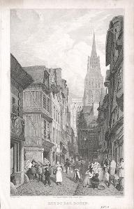 Rouen, Lewis, oceloryt, (1840)