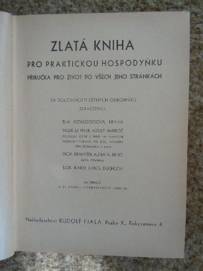 ZLatá kniha - Knihy