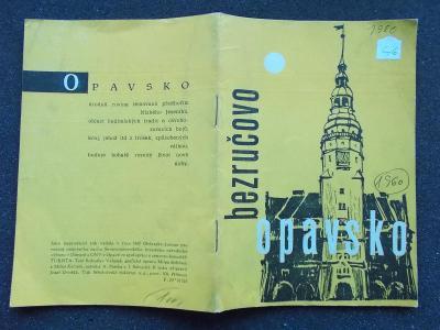 Opava Hradec nad Moravicí mapa Slezsko Bezruč reklamní brožůra