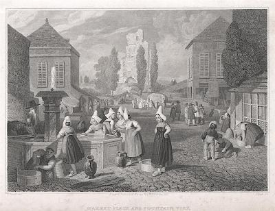 Fountain Vire trh, Dibdin, oceloryt, 1821