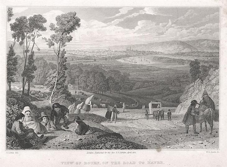 Rouen, Dibdin, oceloryt, 1821 - Antikvariát
