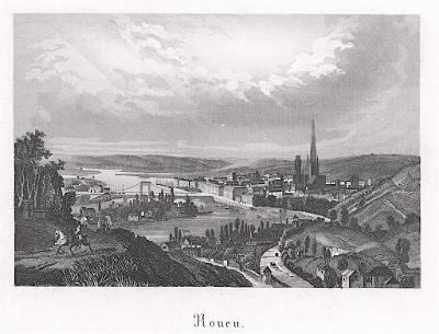 Rouen, oceloryt, (1840)