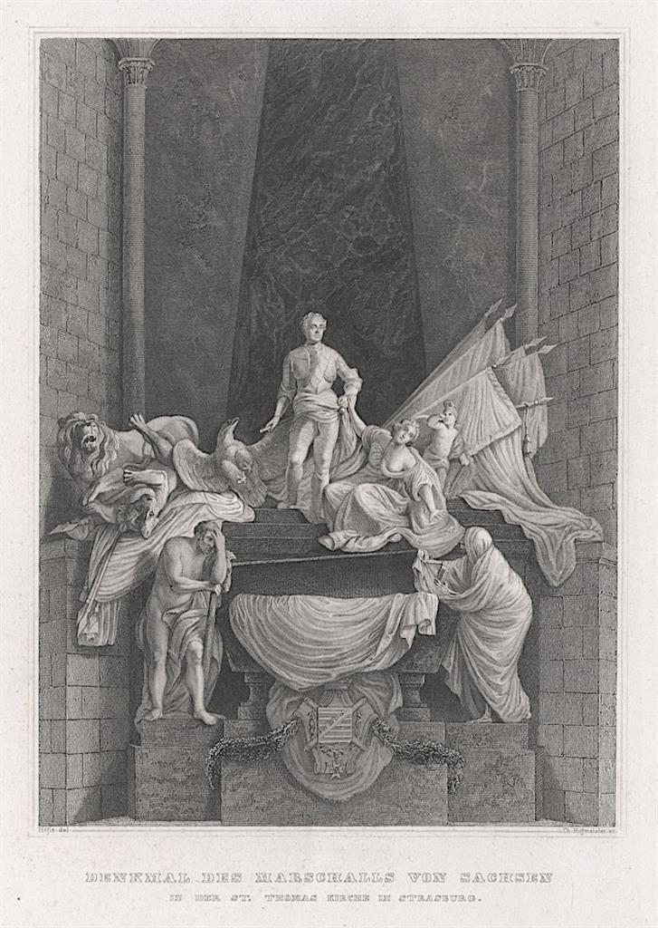 Strassburg hrob de Saxe, oceloryt, (1830) - Antikvariát