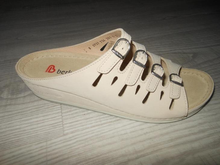 Dámské kožené nazouváky na klínku zn. BERKEMANN  vel. 41 - Dámské boty
