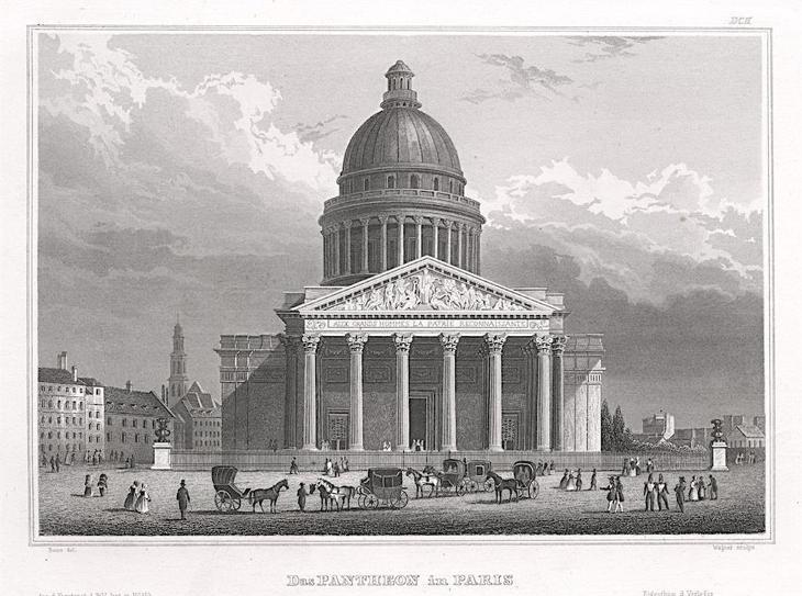 Paris Pantheon, Meyer, oceloryt, 1850 - Antikvariát
