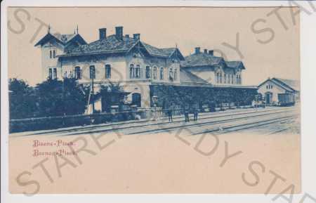 Bzenec (Bisenz) - Písek - nádraží, DA Hodonín - Pohlednice