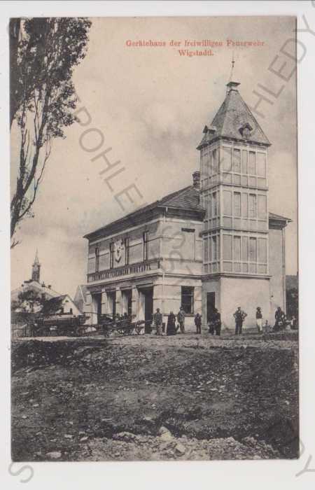 Vítkov (Wigstadtl) - hasičská zbrojnice, Opava  - Pohlednice