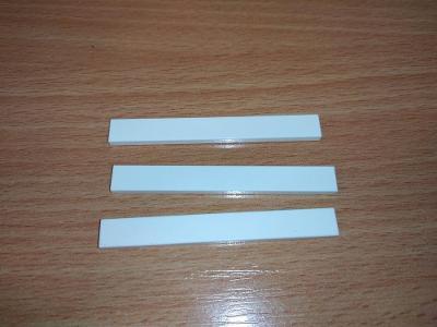 Lego díl 4162 - 3ks hladká dlouhá bílá