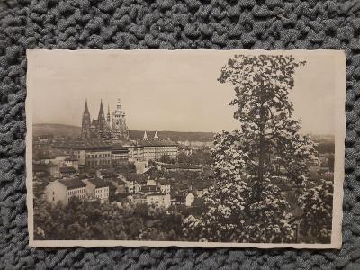 Stará pohlednice,Praha- Hradčany, prošlá