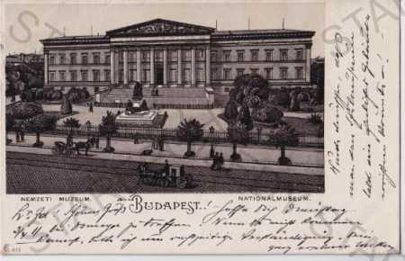 Budapešť (Maďarsko) Národní muzeum, DA, kresba