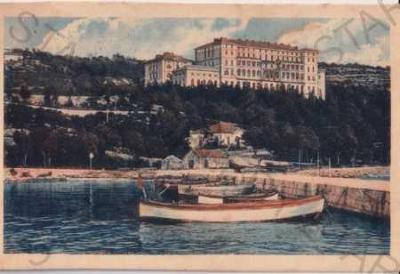 Crikvenica (Chorvatsko, Jugoslávie) město, přístav