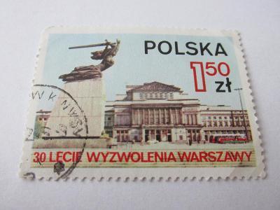 Známky Polsko 1975,Varšava, Památník a Dům opery,30 let hlavního města