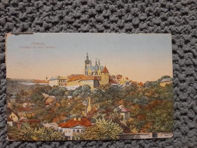 Stará pohlednice,Praha-Hradčany severní strana,prošlá