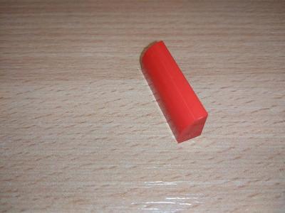 Lego díl 10314 - zaoblená kostka, červená