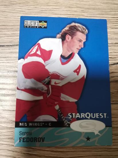 Hokejová karta Starquest 97 Sergei Fedorov - Sportovní sbírky