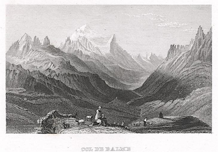Col de Balme, Kleine Univ., oceloryt, (1840) - Antikvariát