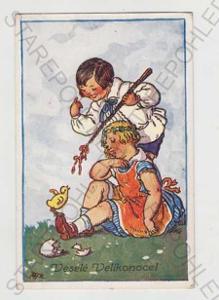 Marie Fischerová - Kvěchová, Velikonoce, dítě, pom