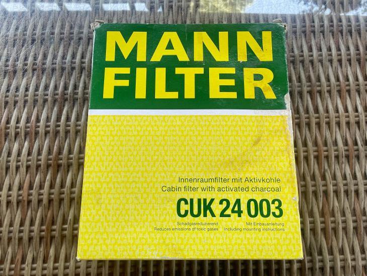 Filtr kabinový, aktivní uhlí, MANN-FILTER CUK 24 003 - Náhradní díly a příslušenství pro osobní vozidla