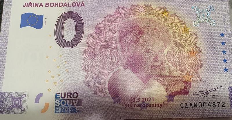 0 euro  - Jiřina Bohdalová - Bankovky