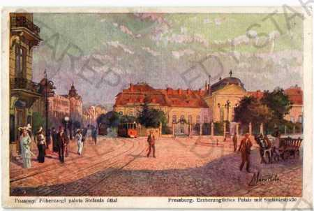 Bratislava pohled ulicí tramvaj - Pohlednice