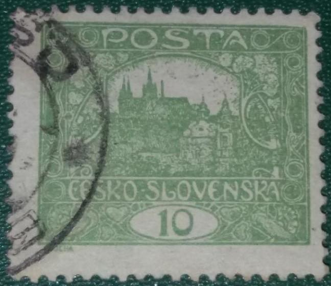 ČSR1 - 1918 - č.6 s vadou - kroužek - Filatelie