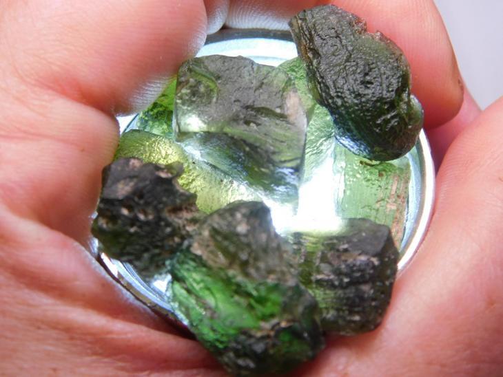 Vltavíny - 18,93 g - lokalita JAKULE !! - Minerály a zkameněliny