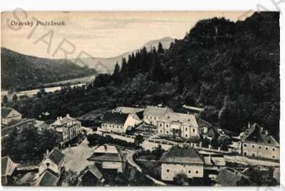Oravský Podzámok Dolní Kubín částečný záběr města