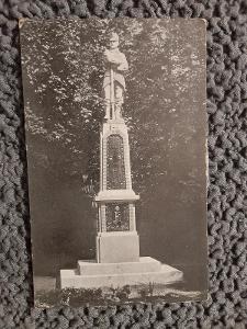 St.pohlednice.Písek Pomník vojína c. a k.11.pěš.pluku,prošlá