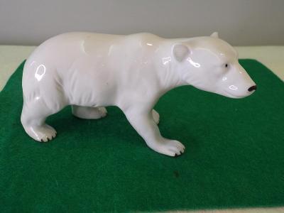 Figurální porcelán - lední medvěd. Značeno viz. foto.